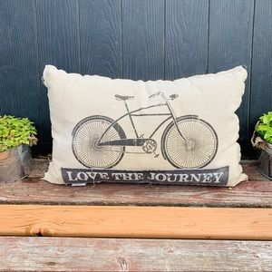 Bike Bicycle Riding Live The Journey Throw Pillow